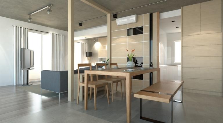 1BR apartment interior
